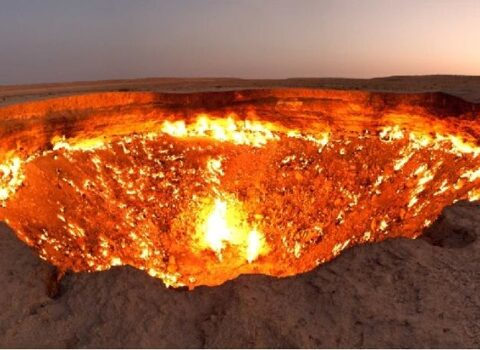 Derwaza (Gas crater)